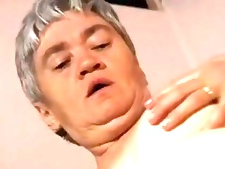 chubby elderly into nylons gapes and fucks