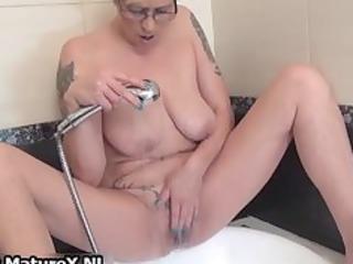 tattooed grown-up woman pleasing part6
