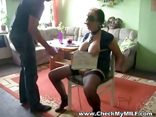 grownup chick slave being tortured by masked man