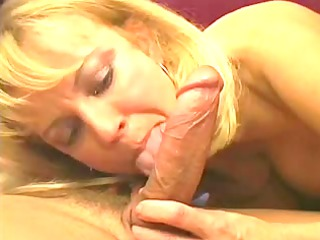 furry golden-haired mature obtaining banged