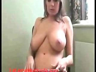 milf pushing dildo until orgasm
