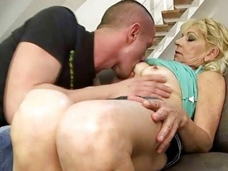 stunning grandma fucking with her fresh lover