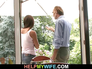 inexperienced housewife cucks in countryhouse