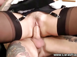 dick hungry lady takes a pounding