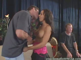 very impressive swinger housewife and cuckold