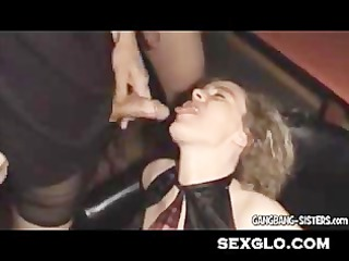 inexperienced bukkake and fuck woman