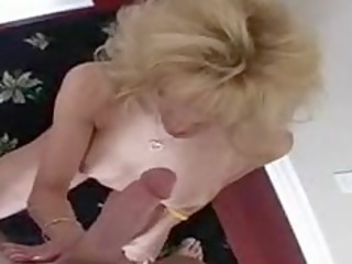 grown-up angel acquires a white cream down her