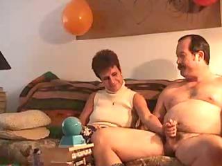 grownup couple's initial gang bang tape