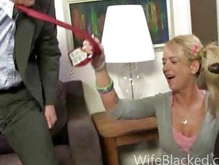 cuckold blowjob wife sucks great dark dick