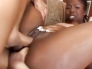 super brown momma acquires twin penetrated by two