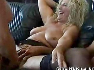 2 grannies on a man after gathering part2