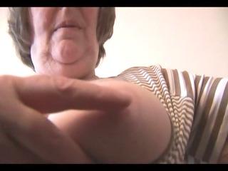 sexy furry granny into mini dress