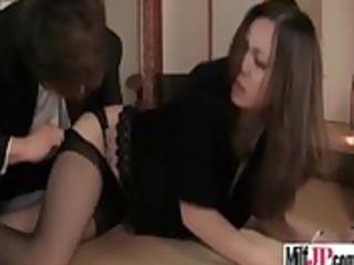 japanese slutty woman obtain nailed difficult
