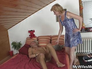 naughty guy drills his gfs milf pussy