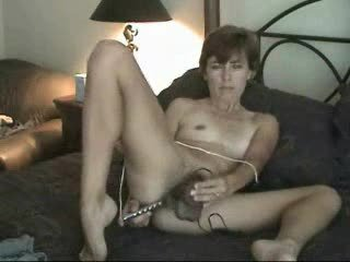 amateur grown-up hairy milf lady solo pushing