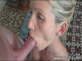 woman has a mouthfull