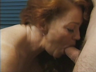 red-haired old gets busy