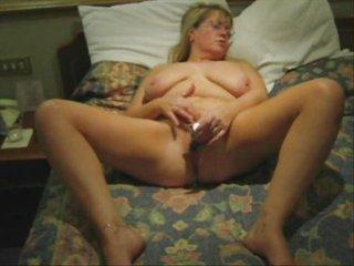 awesome masturbation of my mature bitch. house