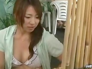 girl and housewife have a gang bang massage by