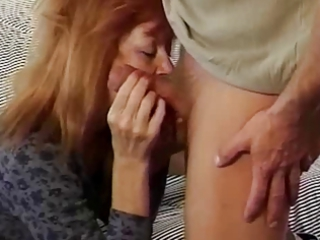 mature redhead trudy true plays before taking