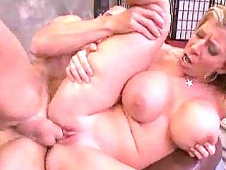 mature amp with big boobs has a tough cougar lady