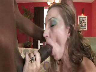 brunette lady having mixed sex