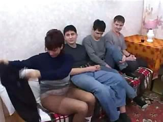 russian lady bang son & his buddies
