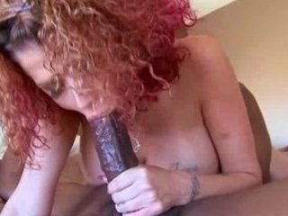 neighbors lady licks brown penis and drives it