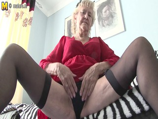 british granny getting nude off her goods