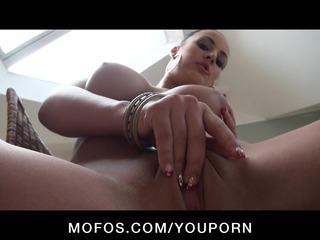 pure big boob & ass euro brunette older chick