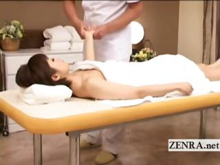 japanese woman lies nude for sensual erotic oil