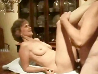 elderly chick dining room kitchen table banged