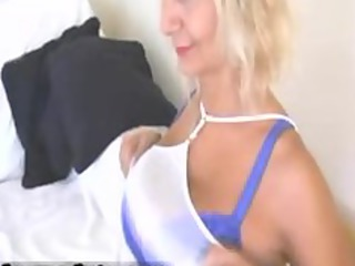sexy albino chick with large bossom going naked