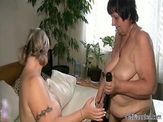 horny cougar bitches go insane plastic cock part2