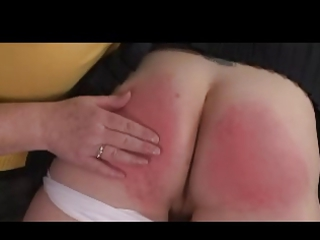 domme old spanks lady over her knee