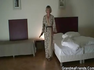 ancient girl is slammed by two robbers