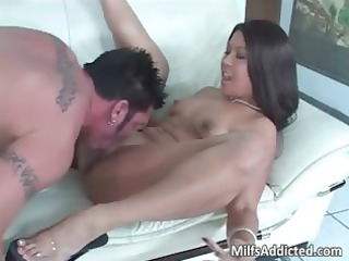 very charming latino girl with awesome anal rides