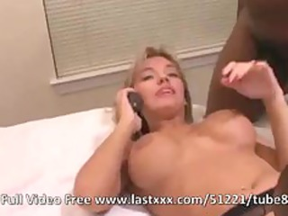 hot bleached woman mixed amateur three