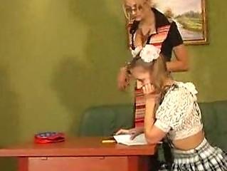 horny lesbian women teach teens whores how to