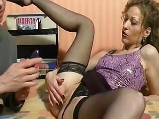 cougar french babe is employing oral and bottom