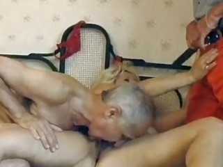 grownup german albino obtains twin drilled