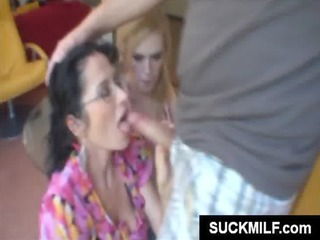 young girl and mom sharing penis