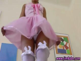 italian teen inside pantyhose enjoy with her