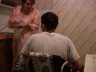 granny gets pierced inside dining room