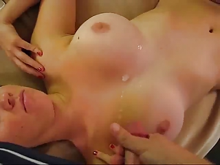 giant breast woman in homemade sperm