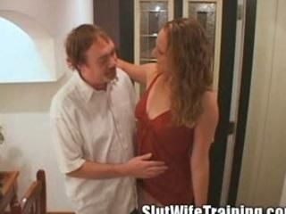 young slut wife eats her cum