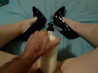 rufous wife piercing giant dildo having on 6 inch
