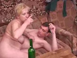 russian cougar with amateur guy