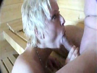 drilling and licking into the sauna