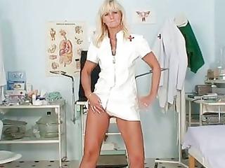 grownup frantiska pussy gaping into medic uniform